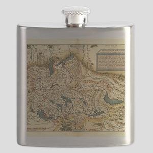Ortelius's map of Switzerland, 1570 Flask