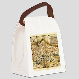 Ortelius's map of Switzerland, 15 Canvas Lunch Bag