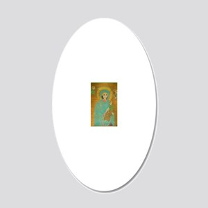 Our Lady of Perpetual Help 20x12 Oval Wall Decal