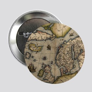 """Ortelius's map of Northern Europe, 15 2.25"""" Button"""