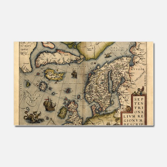 Ortelius's map of Northern Euro Car Magnet 20 x 12