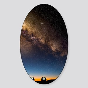 Milky way and observatories, Hawaii Sticker (Oval)