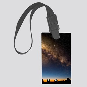 Milky way and observatories, Haw Large Luggage Tag