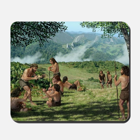 Neanderthals in summer, artwork Mousepad