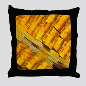 Moth wing scales, light micrograph Throw Pillow