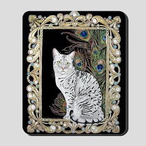 Silver Egyptian Mau Mousepad