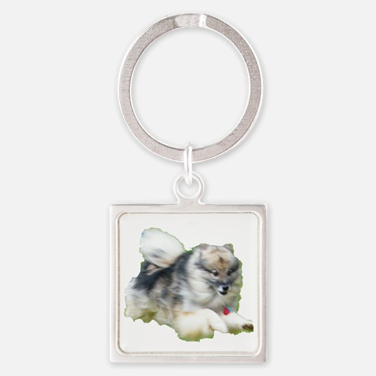 Kees Jumping Square Keychain