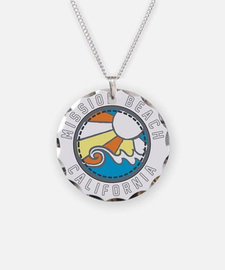 Mission Beach Wave Badge Necklace