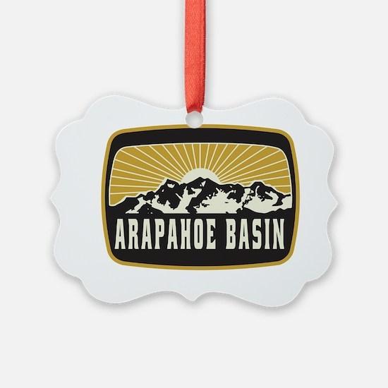 Arapahoe Basin Sunshine Patch Ornament