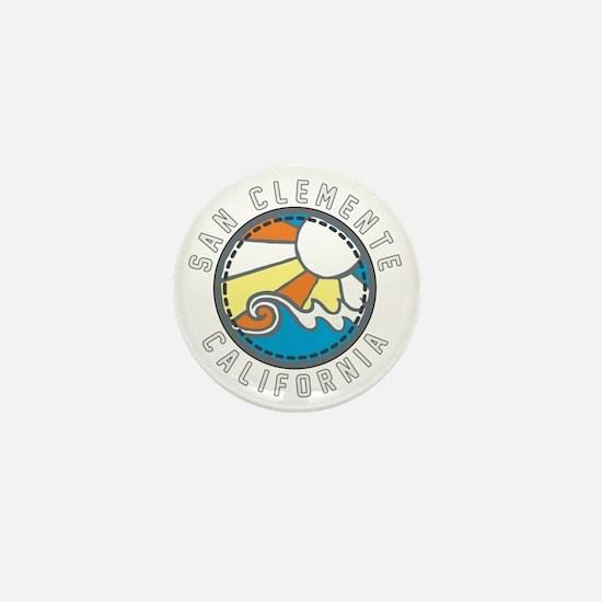 San Clemente Wave Badge Mini Button