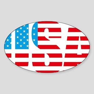 USA flag united states of america Sticker (Oval)