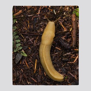 Pacific banana slug Throw Blanket