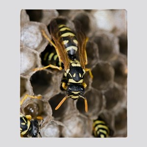 Paper Wasp Throw Blanket