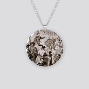 Paracelsus and the Basel tri Necklace Circle Charm