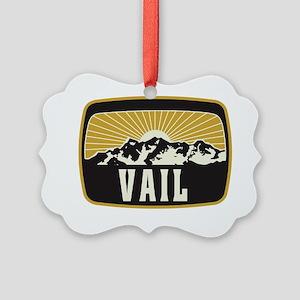 Vail Sunshine Patch Picture Ornament