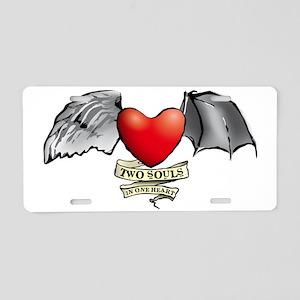 heart wings devil angel Aluminum License Plate