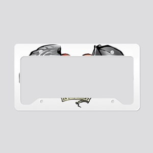 heart wings devil angel License Plate Holder