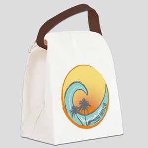 Mission Beach Sunset Crest Canvas Lunch Bag