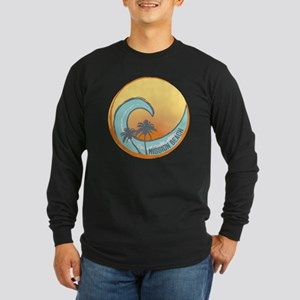 Mission Beach Sunset Cres Long Sleeve Dark T-Shirt