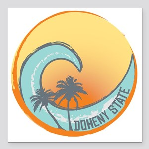 "Doheny State Sunset Cres Square Car Magnet 3"" x 3"""