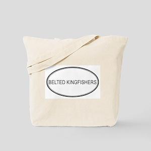 Oval Design: BELTED KINGFISHE Tote Bag