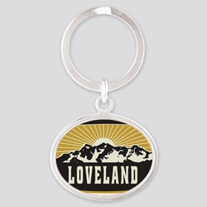 Loveland Sunshine Patch Oval Keychain
