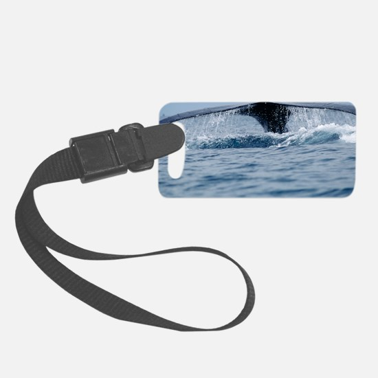 Humpback whale tail Luggage Tag