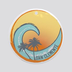 San Clemente Sunset Crest Round Ornament