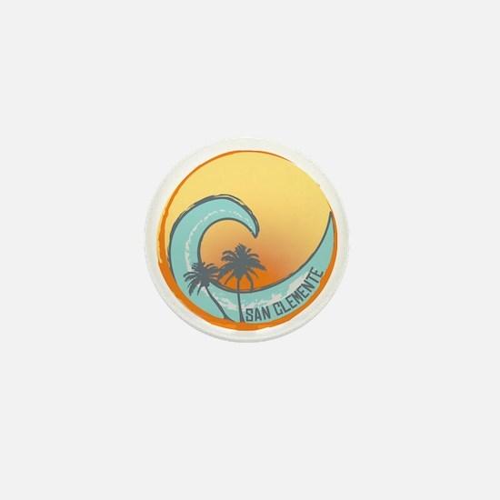 San Clemente Sunset Crest Mini Button