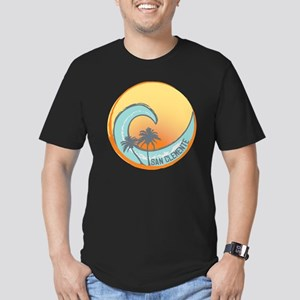 San Clemente Sunset Cr Men's Fitted T-Shirt (dark)
