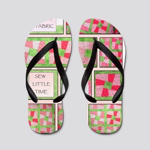 Maxines Quilt Pink 2 Flip Flops