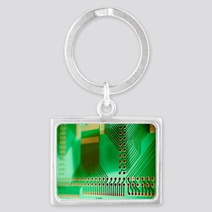 Printed circuit board Landscape Keychain