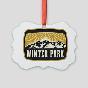 Winter Park Sunshine Patch Picture Ornament