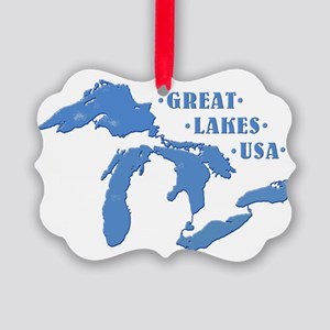 GREAT LAKES USA Picture Ornament