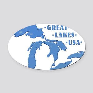 GREAT LAKES USA Oval Car Magnet