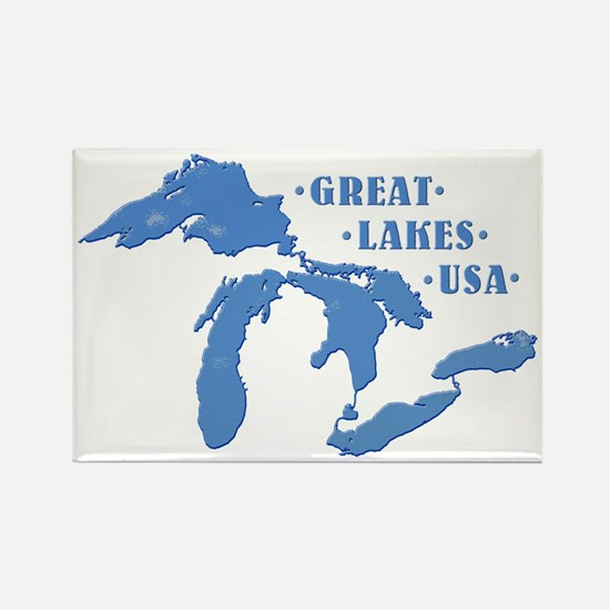GREAT LAKES USA Rectangle Magnet