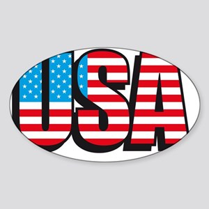 USA flag united states of america Sticker (Oval)