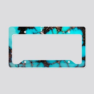 Polished turquoise cabochon License Plate Holder
