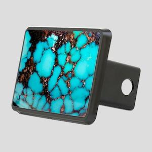 Polished turquoise cabocho Rectangular Hitch Cover