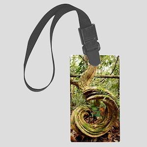 Rainforest undergrowth Large Luggage Tag