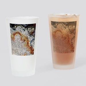 Polished 'crazy lace' agate Drinking Glass