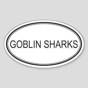 Oval Design: GOBLIN SHARKS Oval Sticker
