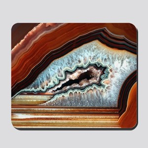 Slice of agate Mousepad