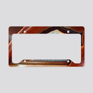 Slice of agate License Plate Holder