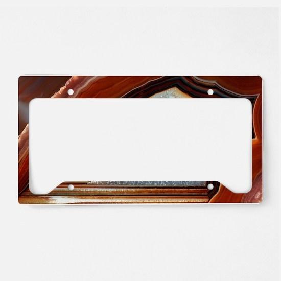 Slice of agate License Plate Holder