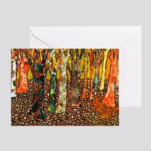 Funky Forest Tree Art Greeting Card