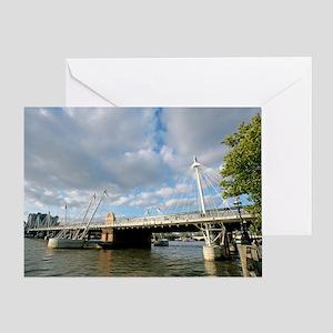 Hungerford Bridge, UK Greeting Card