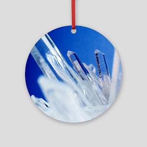 Quartz crystals Round Ornament