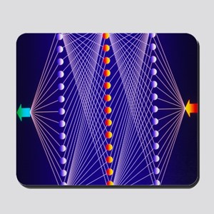 Illustration of neural net in computer a Mousepad