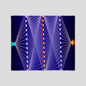 Illustration of neural net in comput Throw Blanket